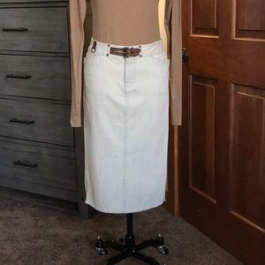 Ralph Lauren - Cream Denim Pencil Skirt (NWT)